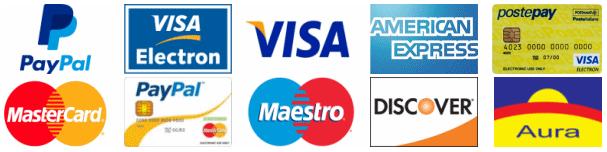 Paypal e carte di credito e bonifico